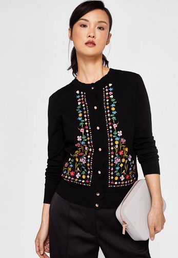 Cardigan Embroidered Sweater