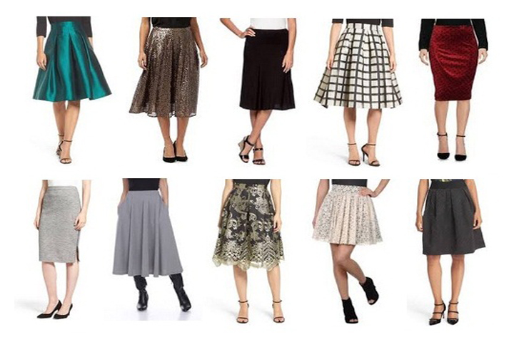Casual and Formal Knee Length Skirts for Girls