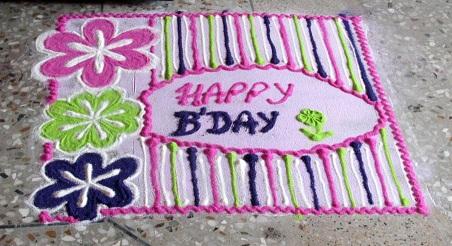 Casual Birthday Rangoli