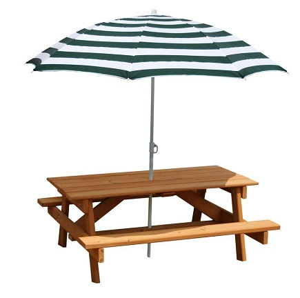 Cedar Mini-Picnic Table Umbrellas