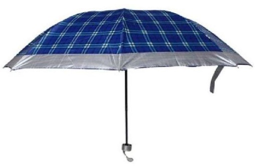 Checkered Blue Umbrellas