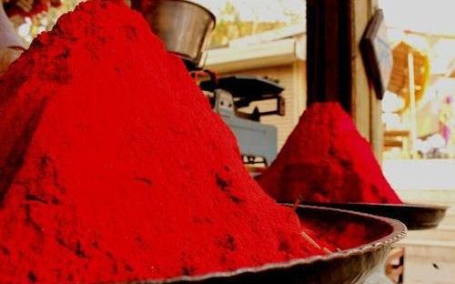 Cherry Red Rangoli Powder