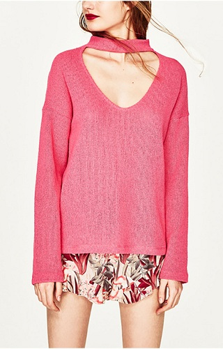 Choker Style Women's Sweater