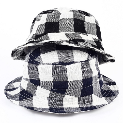 Classic Lattice Navy Bucket Hats