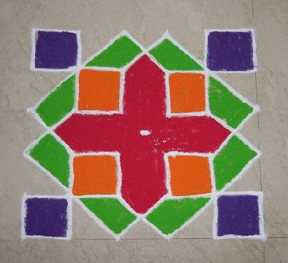 5 Simple And Creative Pulli Kolam Rangoli Designs With 6 Dots