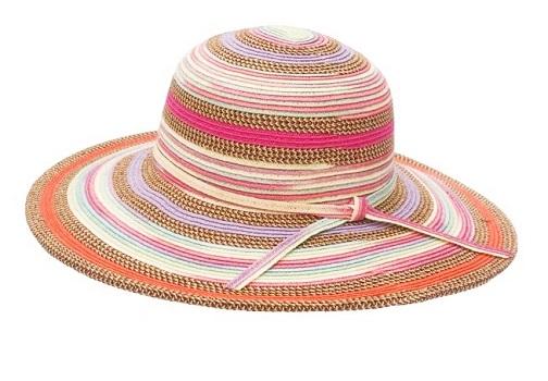 Sombrero de paja trenzado colorido para las mujeres