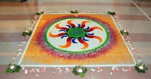 Creative Jain Rangoli