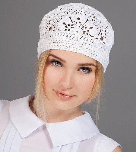 Sombrero de ganchillo para mujer