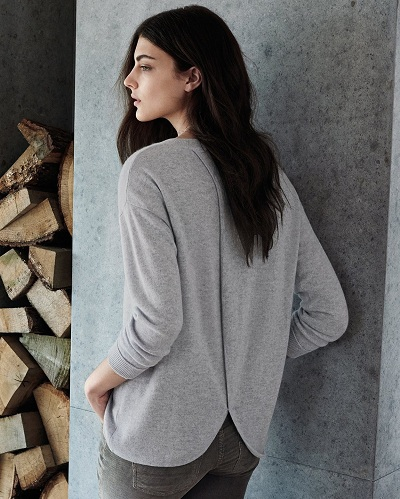 Cross Back Cashmere Sweater