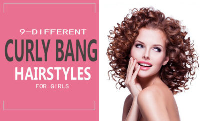 Curly Bang Hairstyles for Girls