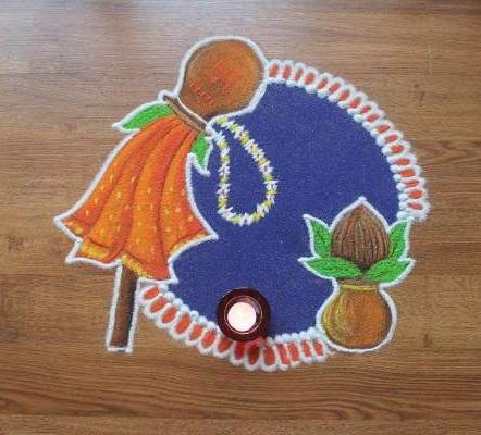 special Gudi Padwa rangoli