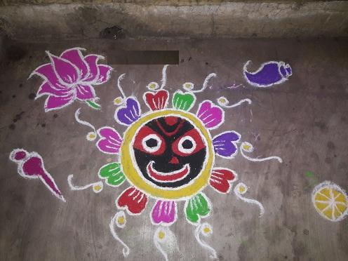 Decorative Jagannath Design