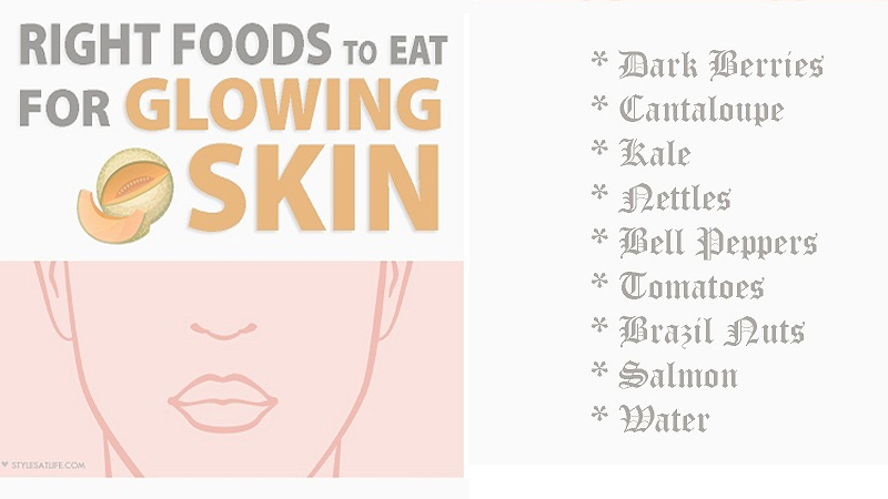 Diet Foods To Eat For Skin Clearing & Glowing