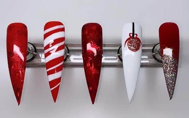 Different Xmas Nail Art Design