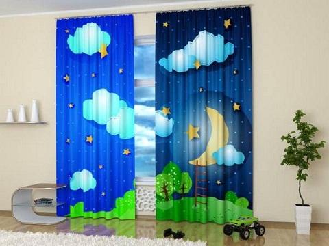 Digital Print Curtain Pattern