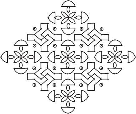Divya Rangoli with 20 Dots