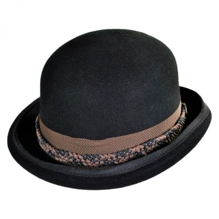 Dramatic Rolled Brim Bowler Hats