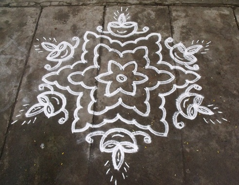 5 Beautiful 13 Dots Rangoli Designs With Images Styles At Life