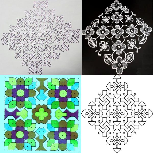 20 Dots Rangoli Designs