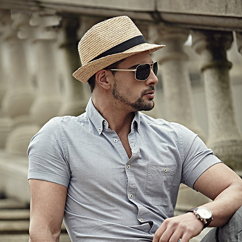 Fashionable Summer Men's Beach Hat