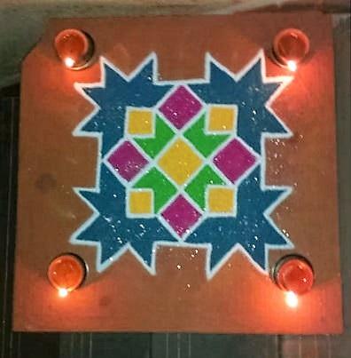 9 Dots Rangoli