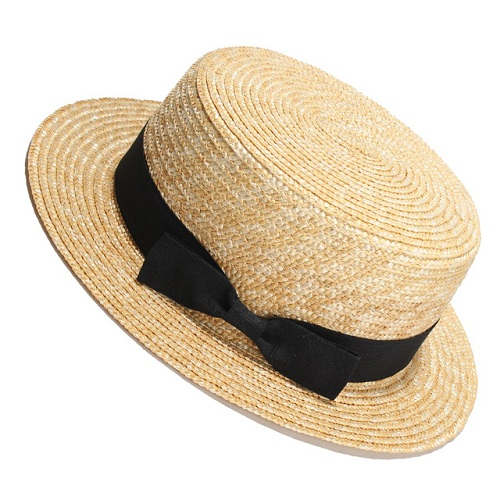 Flat Top Straw Beach Hat