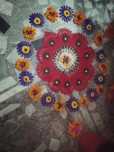 Flower Jain Rangoli