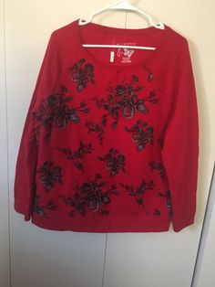 Flower Polyester Sweater