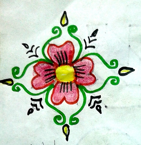 14 Dots Rangoli Designs