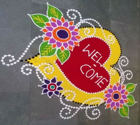Welcome Rangoli Designs