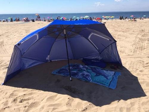 Free Standing Mushroom Type Beach Umbrella