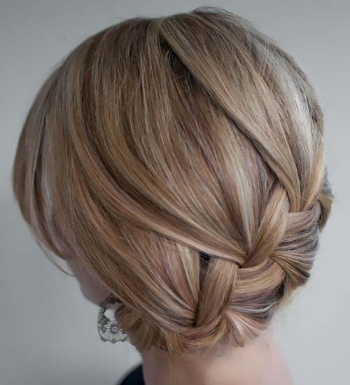 Updo with Classic Twisted Braids