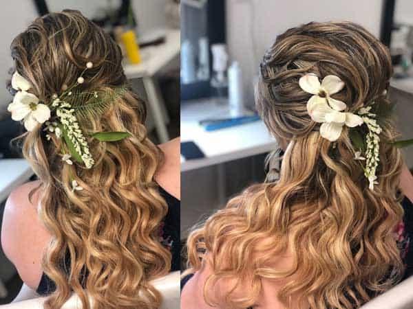 Wedding Twist Loose Hair