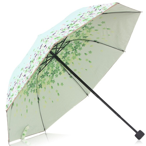 Fresh Floral Small Foldable Umbrella