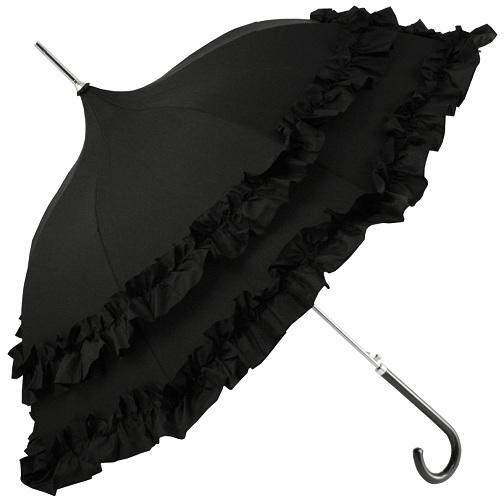 Frilled long Umbrellas