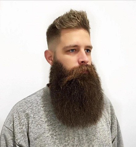 Full Long and Thick Beard Style