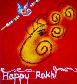 Ganesha Rangoli on Raksha bandhan