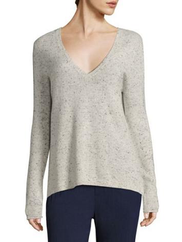 Geometric V Neck Sweater