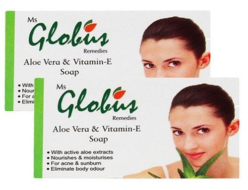 Globus Remedies Aloe Vera and Vitamin E Soap