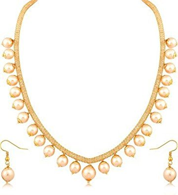 Gold Pearls Necklace Set