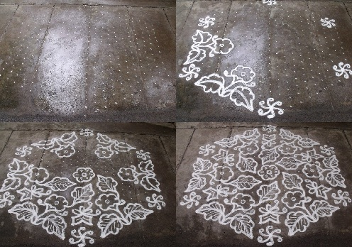 Grand Kolam Rangoli