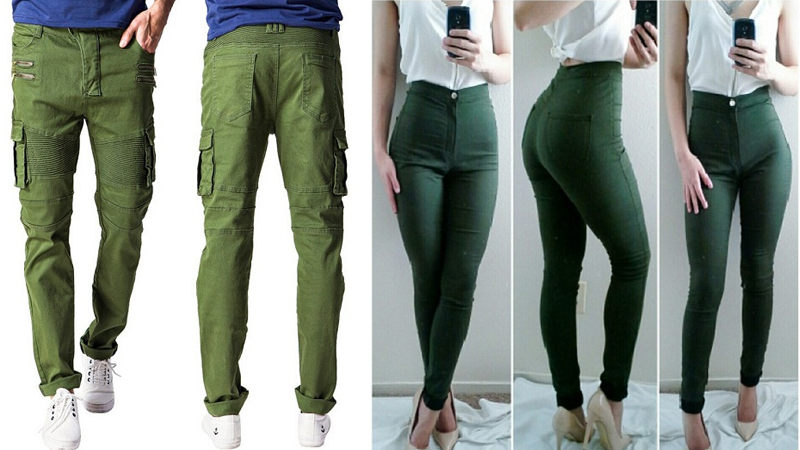 Green Jeans Images and Ideas For Women and Men