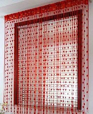 Heart String Curtain Pattern