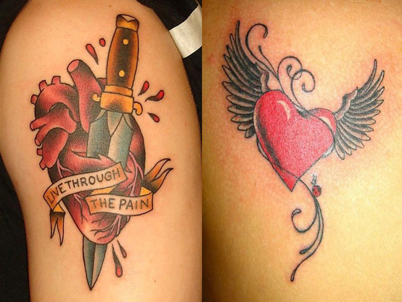 15 Fabulous Heart Tattoo Designs With Images Styles At Life