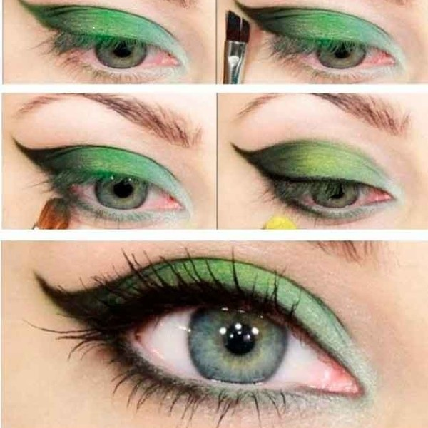 How to do Green Eye Makeup