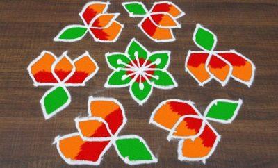 11 Dots Rangoli Designs