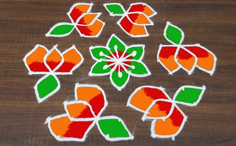 11 Dots Rangoli Designs