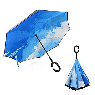 Inverted Folding Umbrellas