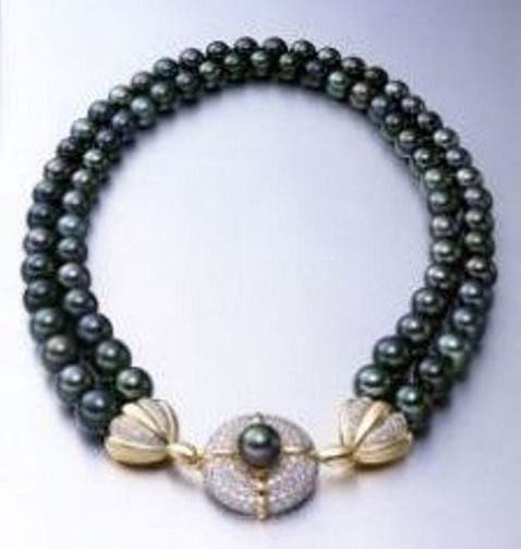 Japanese Akoya Black Pearl Necklace