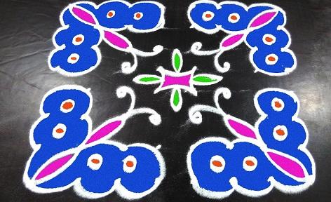 Butterfly Kolam for Beginners
